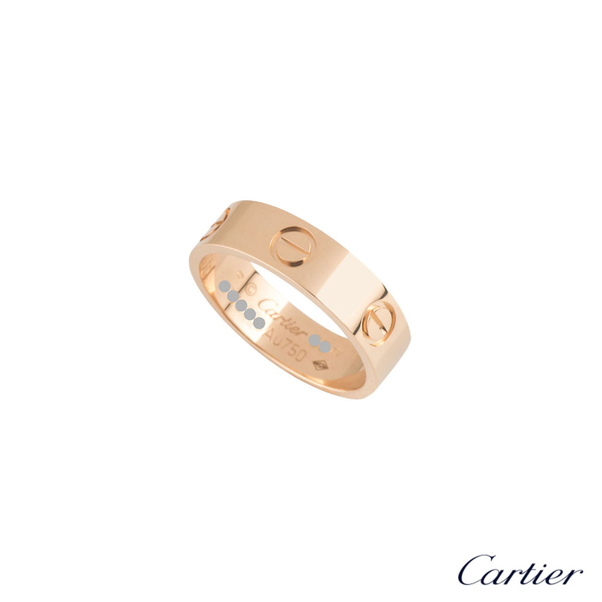 Cartier Rose Gold Plain Love Ring B4084856
